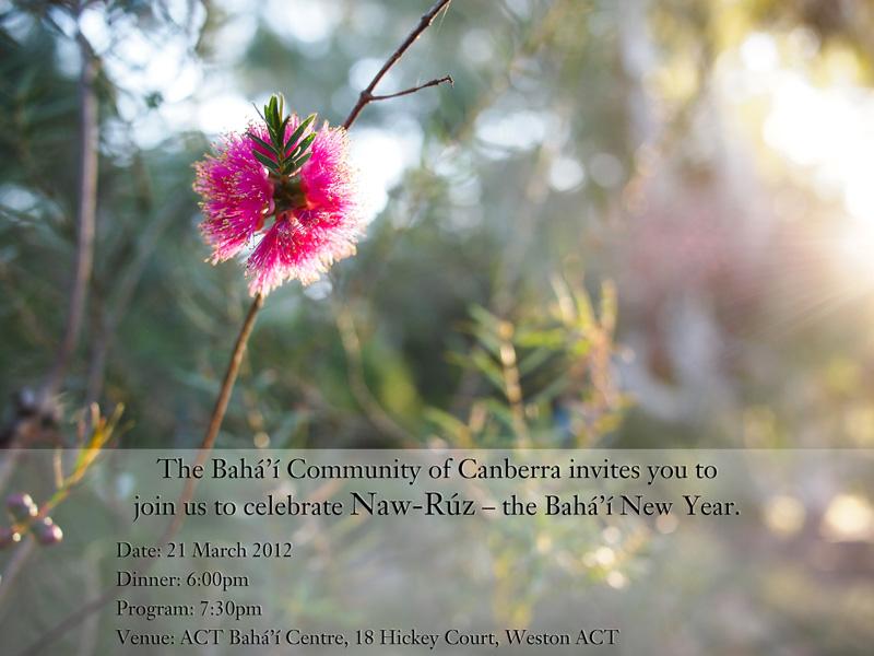 Naw Ruz 2012 flyer